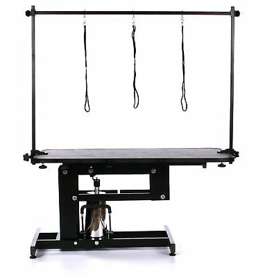 Pedigroom Large Professional Heavy Duty Hydraulic Dog Grooming Table with H Bar