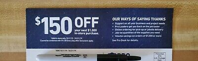 Lowes Coupon Code For $150 Off $1,000 - In-Store Only - Exp: 10/21/19