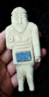 Antique Protection God Idol Ceramic Indus valley Bactrian  Figure Statue