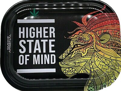 "Smoke Arsenal Premium Rolling Tray ""Higher State of Minds-S82"" 5.5"" x 7"""