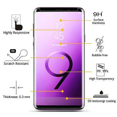 5D Tempered Glass Screen Protector For Samsung Galaxy S9 Full Glue Black 9H