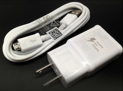 Fast Rapid Wall Charger Charging Cable Cord For Samsung Galaxy J3 J7 Phone White