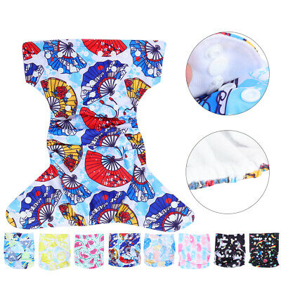 Baby Soft Cloth Nappies Printing Adjustable Reusable Pocket Diapers Cover 3-13KG