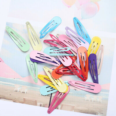 20pcs 5cm Snap Hair Clips for Hair Clip Pins BB Hairpin Color Metal Barrettes Vv