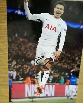 12x8 Inch PHOTO HAND SIGNED By DELE ALLI TOTTENHAM HOTSPUR