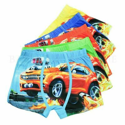 Underwear Cartoon Boxer Kids Boys Cotton Baby Children Panties Car 1Pcs New