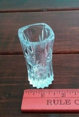 PRINCESS HOUSE Lead Crystal Small Vase/Toothpick Holder - Excellent!