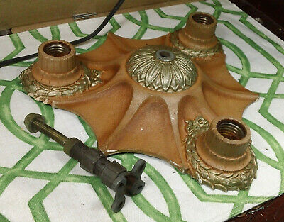 Antique Cast Iron Flush Light Fixture Ceiling Art Deco
