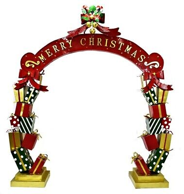 Life-Size Christmas Archway Presents, Candy Canes, LED Lights Commercial Decor