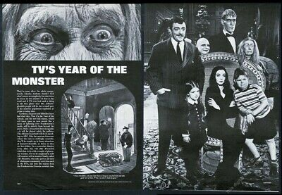 1964 Charles Addams Family TV show 6 photo vintage print article
