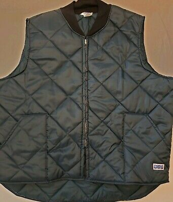 NEW Vintage BIG SMITH Zip Vest MENS XL Quilted Puffer Navy USA Trucker Hunting