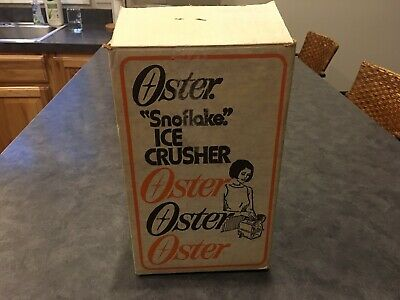 Vintage Oster Imperial Snowflake Ice Crusher Model 552 With All Manuals & Box