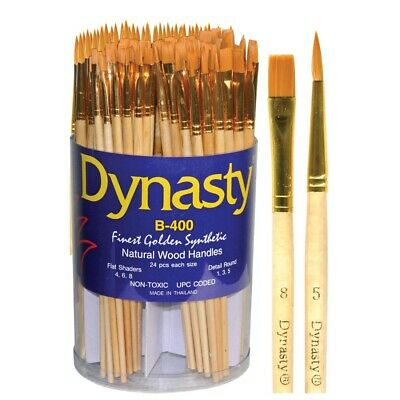 Dynasty Finest Golden Synthetic Brush Set
