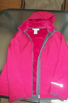 Free Country Women's Size Medium Pink Hooded Lined Jacket Full Zip With Pockets
