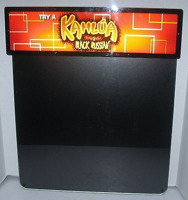 KAHLUA BLACK RUSSIAN Heritage Sign & Display Lighted Dry Erase Menu Advertising