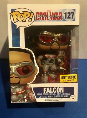 MARVEL Falcon Civil War Captain America #127 FUNKO POP Vinyl Figure Hot Topic