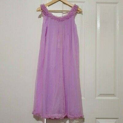 Vintage lavender two layer Negligee Patolaine Lingerie of Refinement
