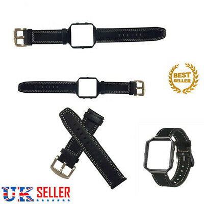 For FitBit BLAZE Replacement Leather Buckle Sports Wristband Strap Band +Frame
