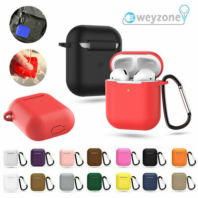Silicone Protective Sleeve Case Cover Skin for Apple Airpod 1 / 2 EarPhone UK