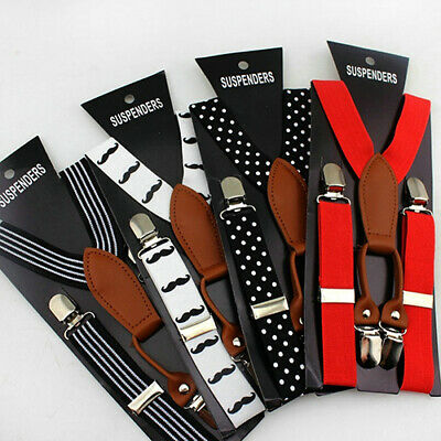 Kids Luxury Braces Children Boys Suspenders Wedding Girls ClipOn Elastic Y Back