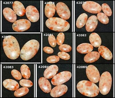 Natural Sunstone Cabochon Fancy Shape Loose Gemstone Wholesale Lot 42077