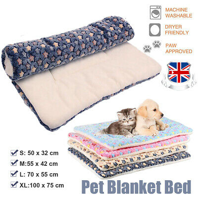 Cute Dog Cat Pet Soft Bed Mat Pillow Cushion Cozy Mattress Blanket Washable S-XL