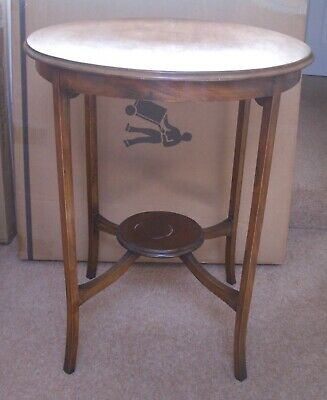 1930's Authentic Mahogany Circular Occasional Table Antique - Ideal Project