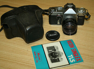Vintage Ricoh TLS Singlex Camera In Case With Booklet
