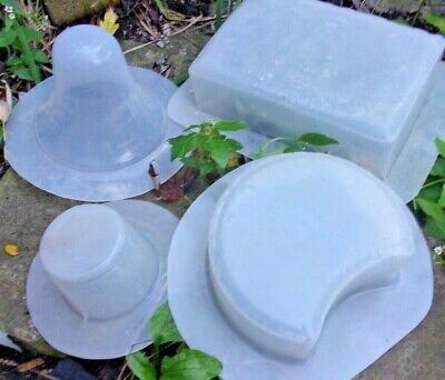 """4 second quality molds range in size from apx  3"""" to 8"""""""