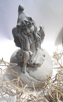 """Latex tiny fairy mold plaster or fast setting rapid set  chin hand 4""""H x 3""""W"""