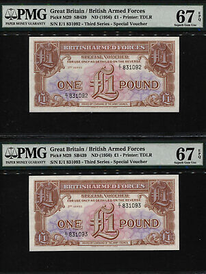1 pound ND UNC Armed Forces Great Britain 1956 M29