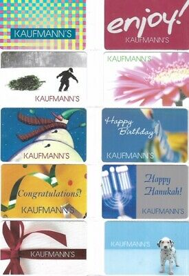 20 Different Gift Cards   T10-7   Kaufmann's   Stores Closed