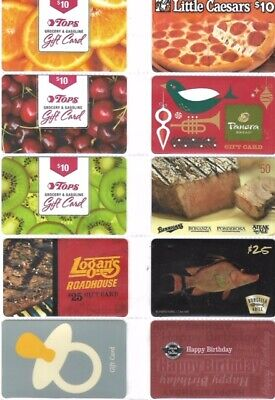 10 Different Food-Related Gift Cards   T10-10