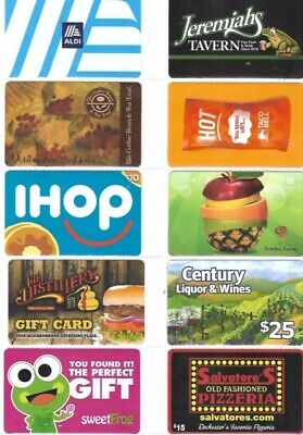 10 Different Food-Related Gift Cards   T10-11