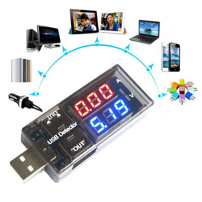 1x USB Volt Current Voltage Doctor Charger Capacity Tester Meter Power Bank