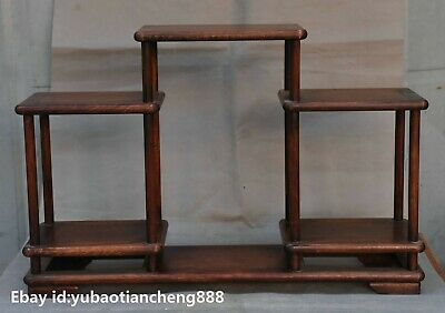 Collect Old Chinese Huanghuali Wood handcrafted Furniture Flower Stand Bookshelf