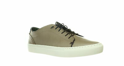 Men/'s Ted Baker KIING Cream Leather Punch Hole Detail Cupsole Brogue Trainers