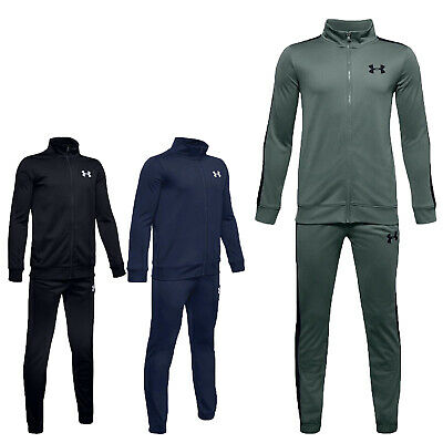 Under Armour Boys Tracksuit Knit Bottoms Kids Tracksuits Football Trouser Zip