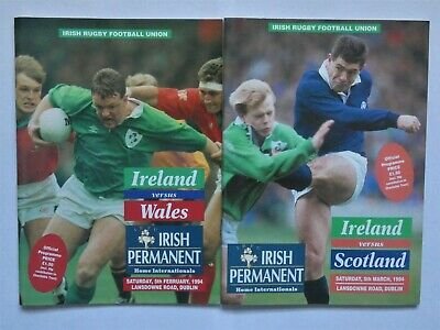 Ireland Wales Scotland Rugby Union Programmes 1994 (2)