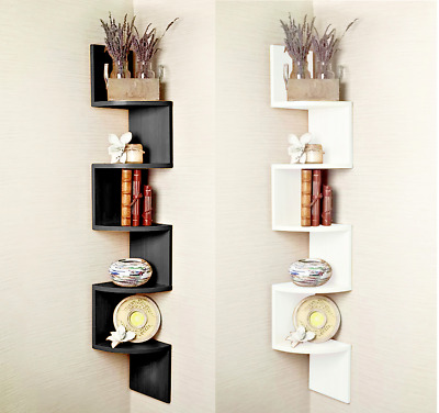5Tier Lucca Wall Mount Corner Shelf/Shelves Storage Rack Display Shelving Unit U