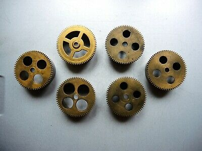 6x ANTIQUE German Wall Clock MOVEMENT JUNGHANS Gustav Becker EMPTY BARREL PARTS