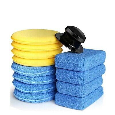 13 Piece Set Car Sanding Waxing Polishing Compound Drill Buffing Sponge Pads Kit