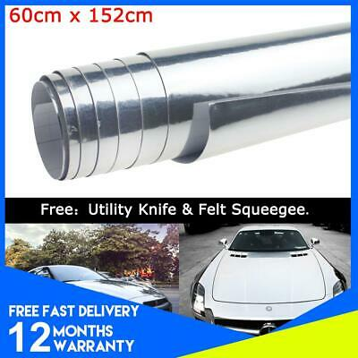 Mirror Chrome Vinyl Wrap Vehicle Sticker Stunning Highly Reflective Gloss Silver