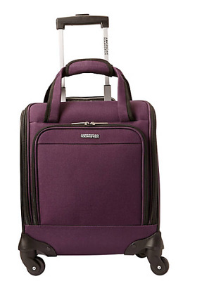 "American Tourister Lynnwood 16"" Underseat Spinner Carry-On Purple"
