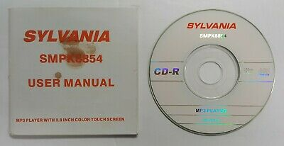 Sylvania SMPK8854 Driver CD and Manual - MP3 Player Guide