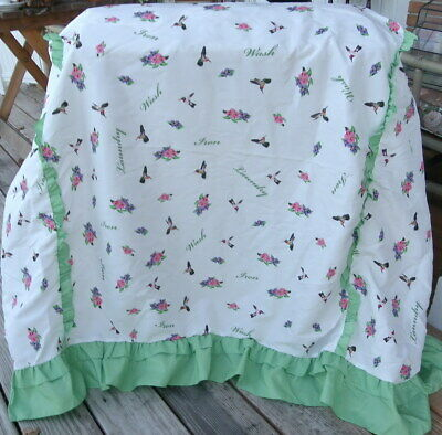 Washer & Dryer Cover Protectors Flowers And Hummingbirds Fabric