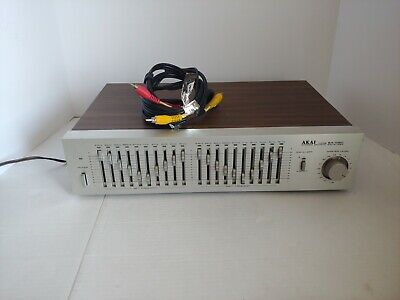 Vintage Akai EA-G80 10-Band Stereo Graphic Equalizer *Works/Tested*