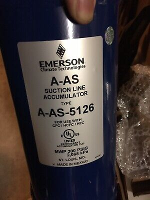 NEW Emerson A-AS Suction Line Accumulator A-AS-5126