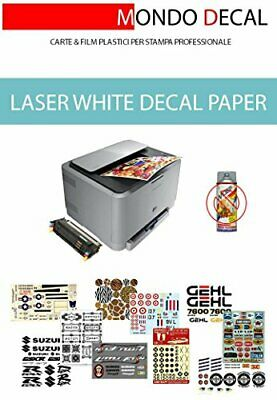 WATERSLIDE DECAL PAPER, CARTA PER DECALCOMANIA, STAMPA LASER, BASE (g6c)