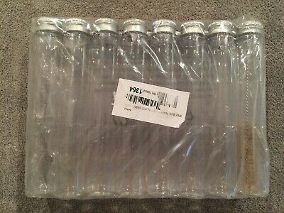 15 pack Clear 4 oz PET Cosmo Round Plastic Bottles w/Lids